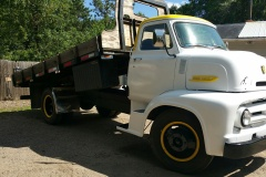 Andy's 1953 ford, C 500 flat bed dump, still working